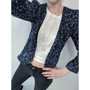 [Parker] Sequin Cropped Jacket